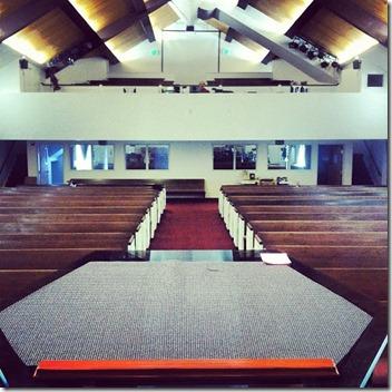 Pulpit View of Sanctuary